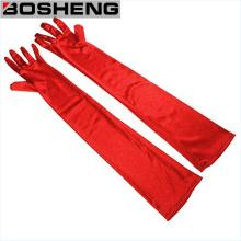 Frauen 22 Zoll klassische erwachsene Größe Opera Länge Stoff Handschuhe