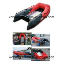 PVC/Hypalon barriga inflável barco com piso de alumínio feito em Weihai