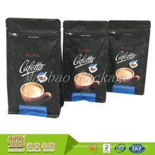 Bolsas de empaquetado modificadas para requisitos particulares estándar del café molido del café express del escudete del lado del FDA para el café molido con la válvula