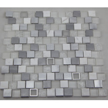 Weißes Aluminium Mosaik / Glas Mosaik / Marmor Mosaik (HGM392)