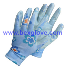 Flower Printed Garden Glove