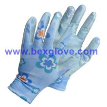 Flower Printed Garden Glove