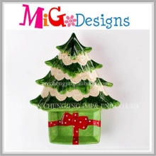 Regalo de Navidad Grace Ceramic Christmas Tree Snack Plate