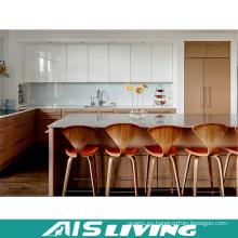 Armarios de cocina de chapa fina Lacuer Mix con isla (AIS-K332)