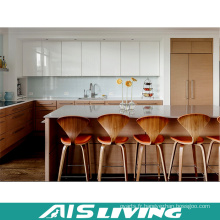 Placards de cuisine de placage à haute brillance de Lacuer de mélange avec l'île (AIS-K332)