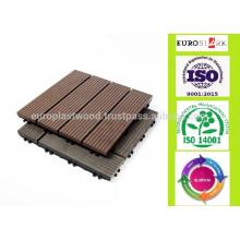 Vente hors 300x300 mm Tissus de plancher WPC bon marché, carreaux de verrouillage DIY, matériel wpc, wpc de plate-forme, toit d'eau, antislip