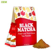 Poudre de thé noir instantané organique aromatisé naturel / poudre noire instantanée d'extrait de thé