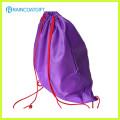 Sac à dos fait sur commande de sac de cordon de polyester d'impression de logo RGB-001