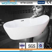 Bañera independiente independiente de acrílico de alta calidad del diseño