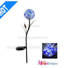 Pieu solaire de cadeau promotionnel de métal et de verre