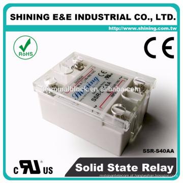 SSR-S40AA para relé de estado sólido AC AC de pequeno gerador 40A