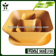 Platos biodegradables no tóxicos para platos ecológicos de fibra vegetal