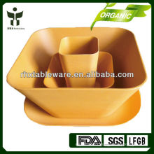 biodegradable bamboo fiber dinnerware natural plant fiber tableware non-toxic bamboo fiber tableware