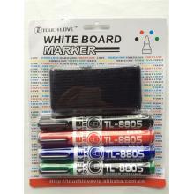 4PCS Whiteboard Marker Pen and Eraser
