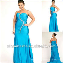 Plus Size Strapless Body Hugging Formal Evening Dress 2012
