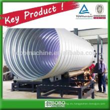 Tubo espiral corrugado de acero de la alcantarilla que forma la máquina