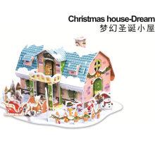 Bricolaje Xmas Casa Tridimensional Navidad Puzzle Juguete