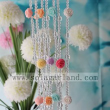 Elegant Acrylic Rose Flowers Style Beads Door Curtain