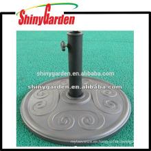 Base de paraguas redonda de hormigón