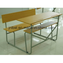 Горячая распродажа! Двойной школьный стол и школьный стул, школьная мебель для студентов / учебы