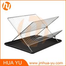 Хромированная сталь форма складной x 2-Уровневое блюдо водосток с drainboard