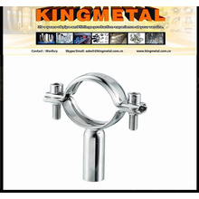Alimentos de SS304/316 grado tubo colgador / soporte de tuberías de acero inoxidable ajustable