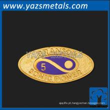 Pino de lapela de metal personalizado, pino de lapela de energia de alta qualidade personalizado de branson