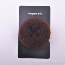 Bolo da filhós do cabelo com cartão de papel (BUN-40)