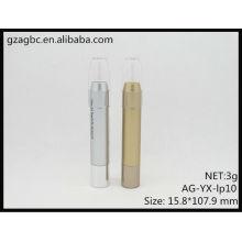 Nova chegada plástico redondo tubo do batom/Lipsitick Pen AG-YX-lp10, tamanho do copo 9,8 mm, embalagens de cosméticos do AGPM, cores/logotipo personalizado