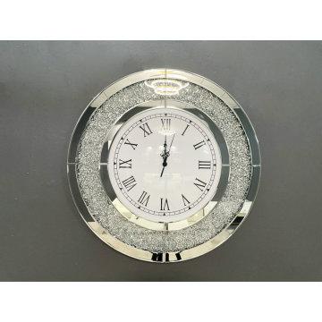 Relógio redondo de diamante esmagado