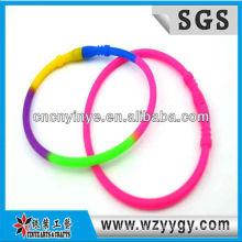 Neue farbenfrohe Silikon-Armband für Kinder, billige Silikonarmband wrap