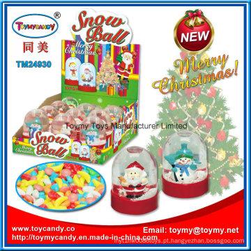 Brinquedo de bola de neve Natal promoção vidro com doces