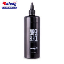Solong Big Bottle 12oz Professional Tattoo Pigment High Quality black Tattoo Ink