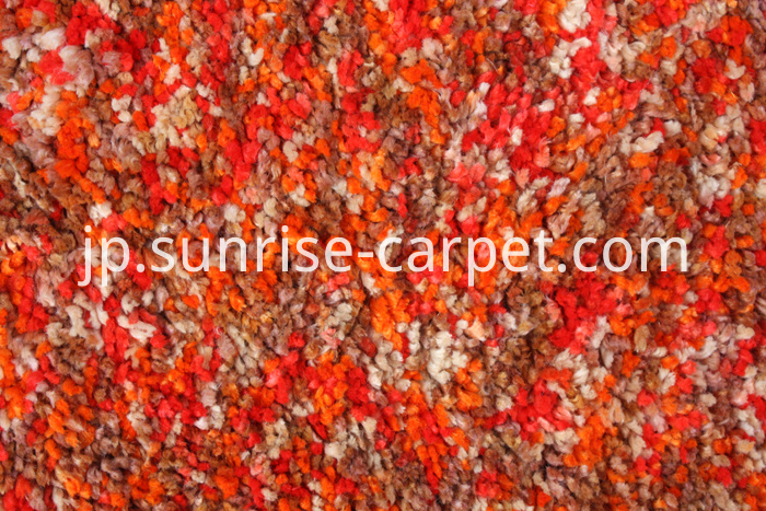 Microfiber Space dye yarn Shaggy Orange Color