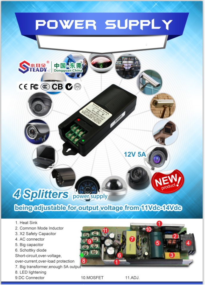 4 Splitters Power supply