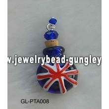 UK flag shape lampwork perfume bottle