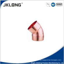 J9007 copper 45 deg elbow cc copper pipe wye fittings