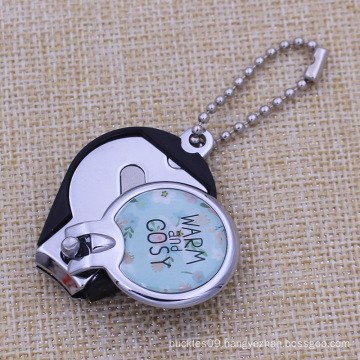 Custom Epoxy Dome Logo Kids Nail Clipper with Ballchain
