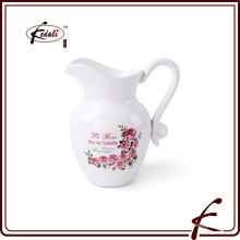 hot sell ceramic flower pitcher
