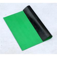 Green Color Striped Truck Bed Mat, Anti-Slip Rubber Sheet
