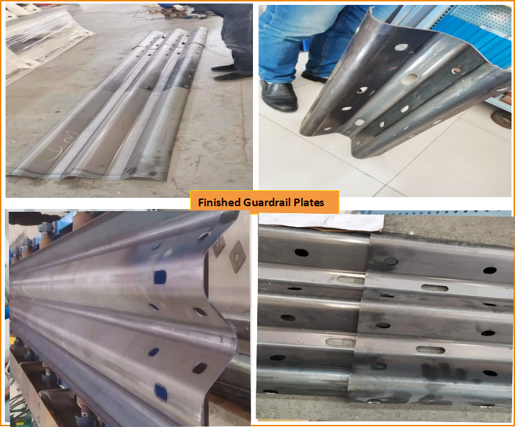 Finished Guadrail Beam Plate