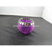 Candelero de Tealight púrpura del mosaico