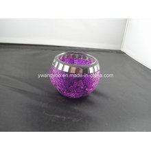 Purple Mosaic Tealight Candle Holder