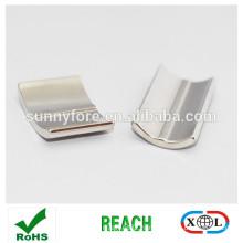 arc shape n50 neodymium magnet for motor