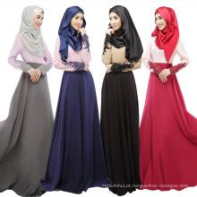Oriente médio moda 2017 mulheres macio barato algodão novo dubai projeta vestido islâmico abaya