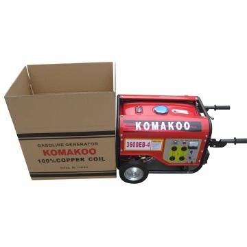 Conjunto de gerador de gasolina Komakoo Manual de 2.5kw (3600EB-4)