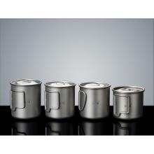 Легкая и портативная титановая чашка