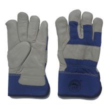 Cuero de vaca de invierno de cuero guantes de trabajo