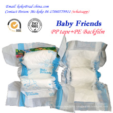Factory Brand Baby Friends PE Film PP Tape Disposable Baby Diaper Nappy