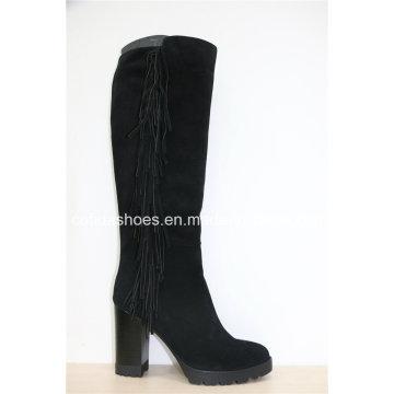 Chaussures en cuir pour femmes à talons hauts à la mode